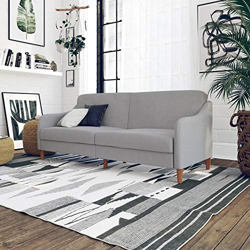 (DHP 2148829 Jasper Upholstered Coil Futon, Light Grey)