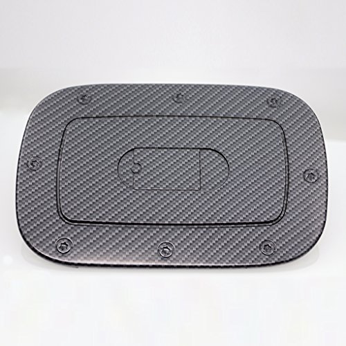 (EAG Fit for 11-16 Jeep Grand Cherokee Fuel Gas Door Cover Black Carbon Fiber Look ABS)