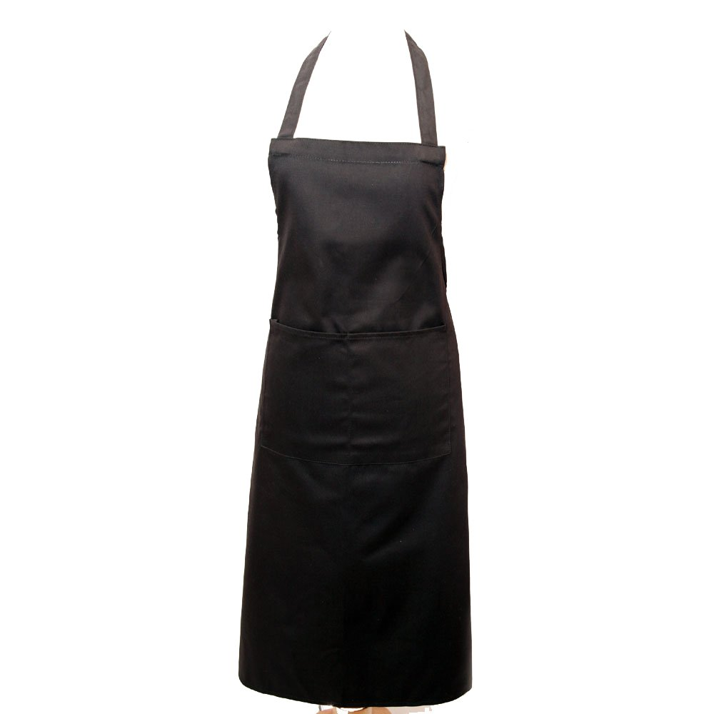 Black apron - Full Apron With Pocket Professional Chefs Waiters Black By Unknown Amazon Co Uk Kitchen Home