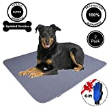 JDPET Washable Dog Pee and Training Pads+Bonus Grooming Gloves.Waterproof - Reusable - Large - 100% Leak-Proof and Urine Absorbent - Pet Incontinence - Travel - Bed Wetting - Mattress Protector - Floor - Whelping