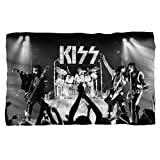 KISS Staged Fleece Blanket White 48X80