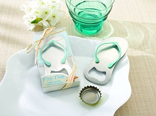 "24 pcs Special""pop the Top"" Flip-flop Bottle Opener for Wedding Favor (Blue)"
