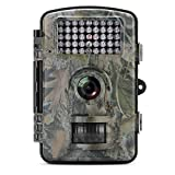 Wildlife Camera MAXFUL Trail Hunting Game 1080P 12MP HD Scouting Surveillance IP54 Waterproof Digital Activated Camera With 42Pcs 65 Foot Night Vision Motion, camouflage