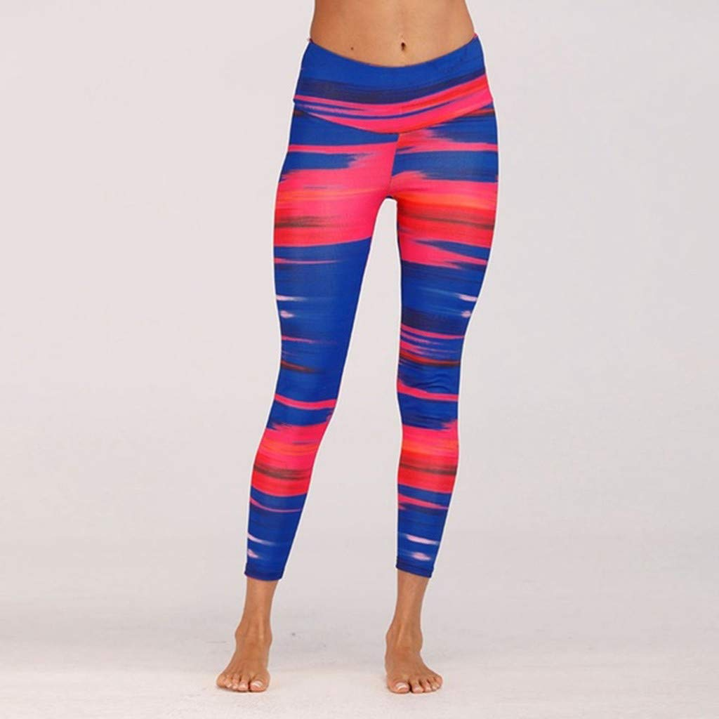 AmyDong Womens Fashion Printed Workout Leggings Fitness Sports Running Athletic Yoga Pants Sweatpants