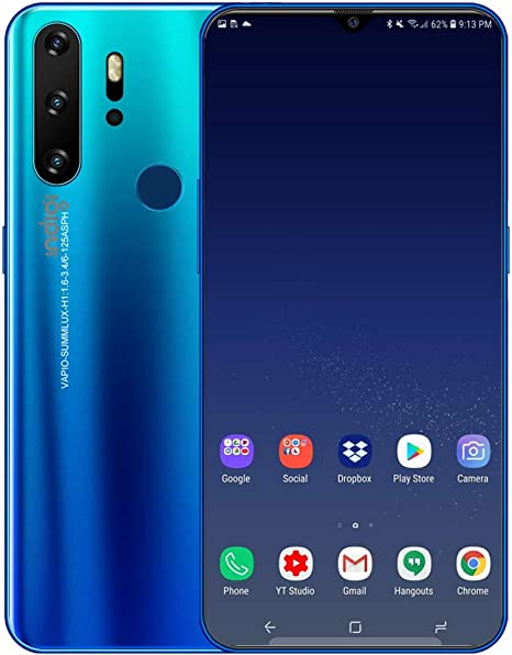 Android 9 teléfono inteligente inalámbrico 4G grande 6.3