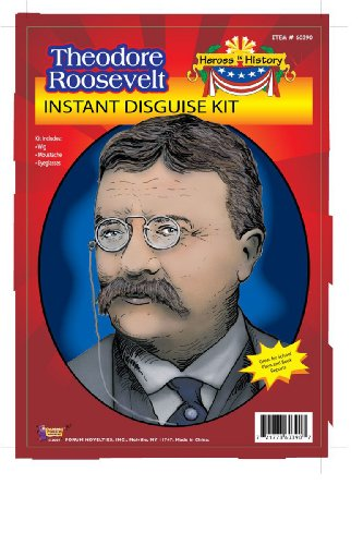 Teddy Roosevelt Glasses Costume (Forum Theodore Roosevelt Instant Disguise Kit)