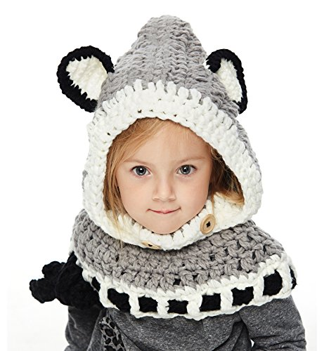 knitted scarf with hood - 7