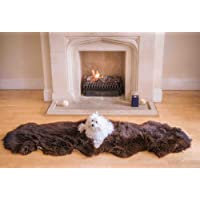 A-STAR Large Sheepskin Rug Double - 2x6 Sheep Rug (Brown)