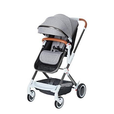 Cochecito de bebé Paisaje alto puede sentarse Horizontal plegable de dos vías Carro de choque de