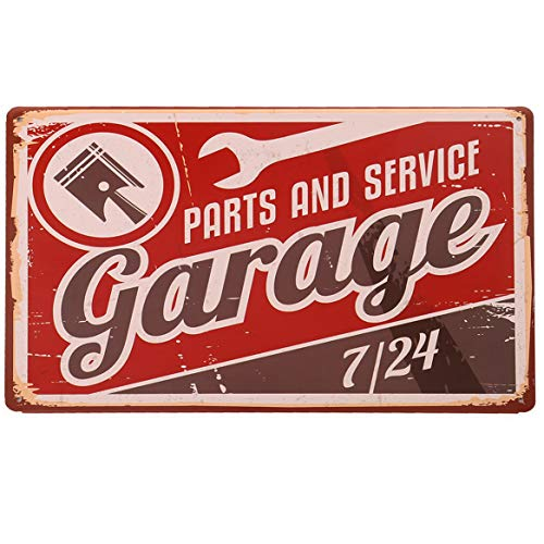- HANTAJANSS Garage Metal Signs with Parts and Service for Garage Tin Sign Home Decoration 12 X 8 Inches