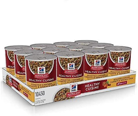 Hill's Science Diet, Alimento para Perro Adulto Healthy Cuisine Estofado, Húmedo (lata) 354 gr, Paquete de 12 unidades 2