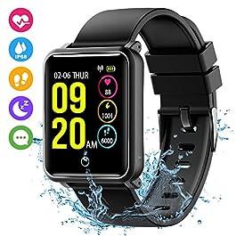 Seneo Fitness Watch, Waterproof IP68 Smartwatch Colour Scree...