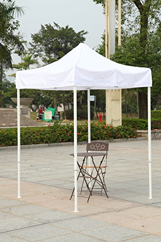 (American Phoenix Canopy Tent 5x5 feet Party Tent [White Frame] Gazebo Canopy Commercial Fair Shelter Car Shelter Wedding Party Easy Pop Up (White))