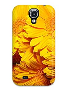 New Style 4771034K91431770 Premium Case With Scratch-resistant/ Yellow Flowers Case Cover For Galaxy S4
