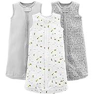 Simple Joys by Carter's Baby 3-Pack Cotton Sleeveless Sleepbag