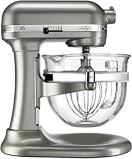KitchenAid KF26M2XNP 6-Qt. Professional 600 with Glass Bowl Nickel Pearl