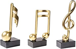 DOYIFun 3pcs Music Note Decor Musical Sculpture Statue Crafts Music Note Figurine for Home Office Decor Piano Gifts Souvenirs Giftbox Art Decor(19CM Tall)