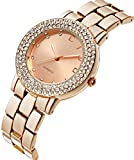 CIVO Women's Rose Golden Stainless Steel Band Wrist Watch Lady Fashion Business Casual Dress Bracelet