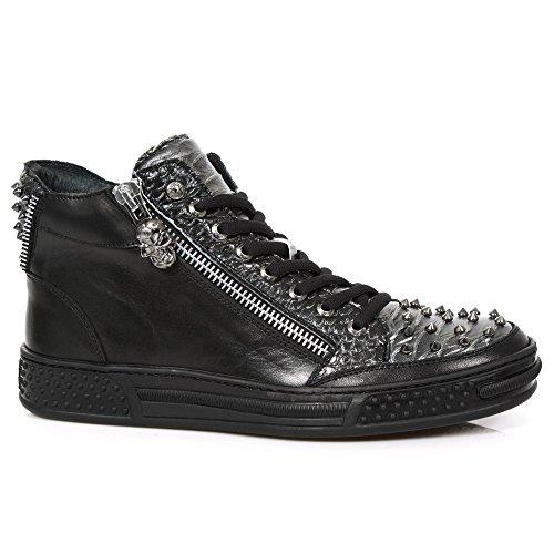 New Rock M.PS029-S5 Pisa Men's Black Leather Boots Black