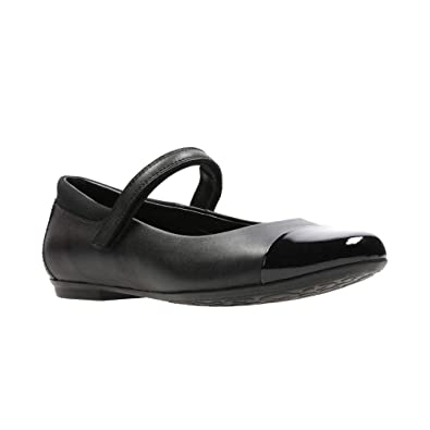 71cda2454c8 Clark s Tizz Talk Girls Black Leather Velcro Strap School Shoes (G) -  26134696  Amazon.co.uk  Shoes   Bags