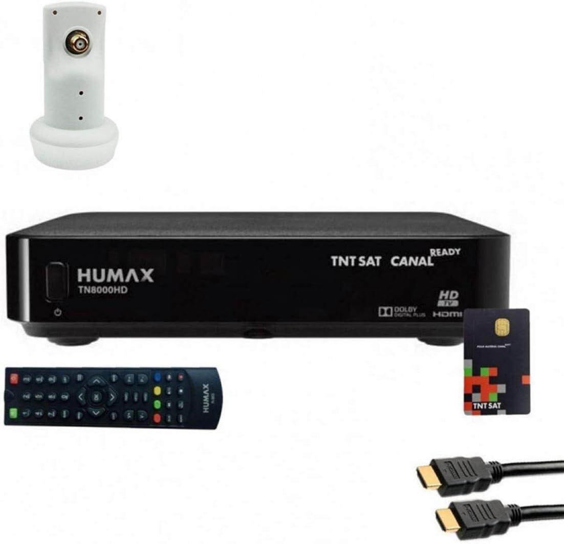 Humax Micro Gold-PACKTN8000HD scheda TNTSAT Set ricevitore Humax TN8000 HD Cavo HDMi LNB singolo