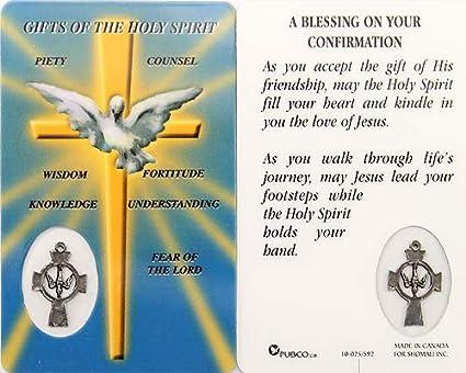 Regalos de el Santo Espíritu, tarjeta de oración): Amazon.es ...