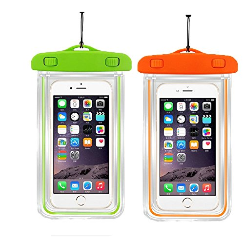 Small Protector Waterproof Case - [2pack]Waterproof Case Universal CellPhone Dry Bag Pouch CaseHQ for Apple iPhone 8,8plus,7,7Plus,6S, 6, 6S Plus, SE, 5S, Samsung Galaxy s8,s8plus, S7, S6 Note 7 5,HTC LG Sony Nokia up to 5.8