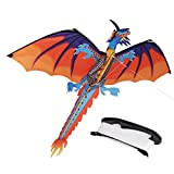 #4: ZS-Juyi 3D Dragon Kite 55inch x 47inch Classical Dragon Plaid Kite Single Line With Tail