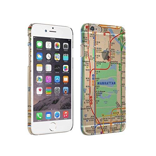 Manhattan Subway Map - iPhone 6 Plus Clear Cover Case