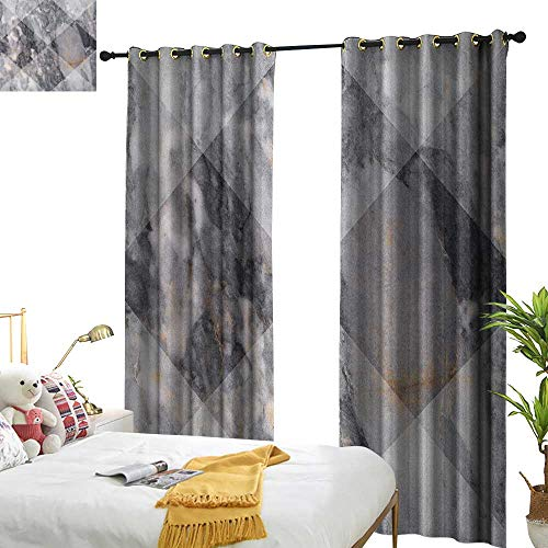 - WinfreyDecor Blackout Curtains Marble Geometric Diamond Shaped Grunge Granite Rock Facet Forms Ceramic Abstract Print Home Garden Bedroom Outdoor Indoor Wall Decorations W84 x L96 Pale Grey