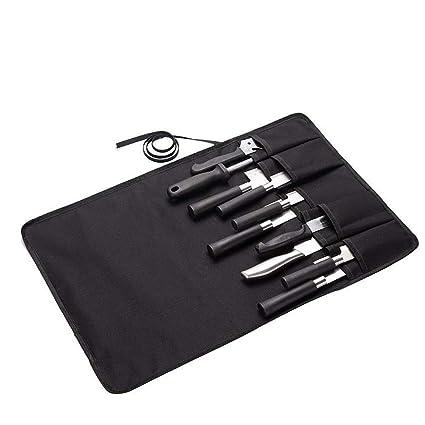 QEES - Bolsa para Cuchillos de Chef, Color Negro con 10 ...