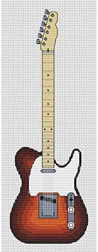 Kit de punto cruz Elite Designs con diseño de guitarra Telecaster ...