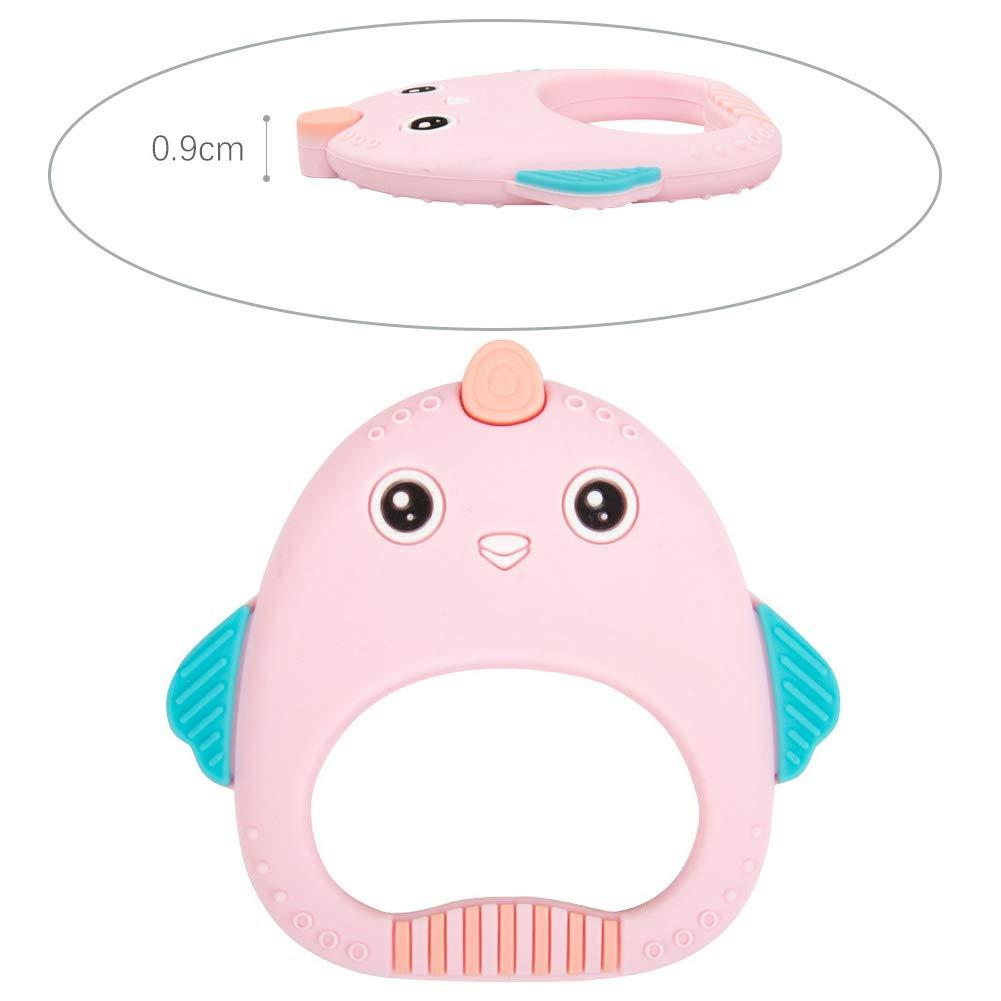 Bebé de la dentición de silicona en forma de pollo juguetes de ...