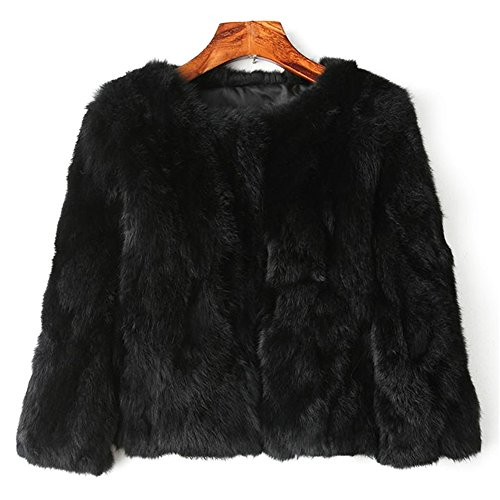 MINGCHUAN Genuine Rabbit Fur Coat Women's Fluffy Fur for sale  Delivered anywhere in Canada
