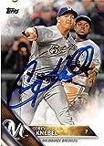Corey Knebel autographed baseball card (Milwaukee Brewers) 2016 Topps #517