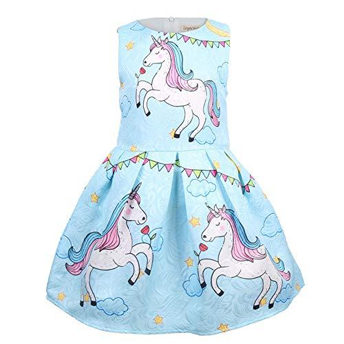 Girls Summer Dress Sleeveless Printing C...