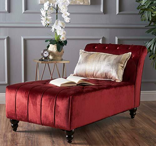 (Ilunar Home Lounge Royalty Tufted Soft Velvet Armless Chair)