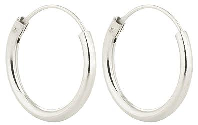 sterling silver 14mm hinged sleeper earrings co uk jewellery