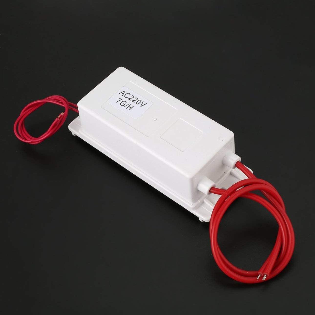 h con fogli a doppia piastra Ballylelly Kit macchina per ozonizzatore aria a piastre in ceramica con alimentatore mini 220V 7g