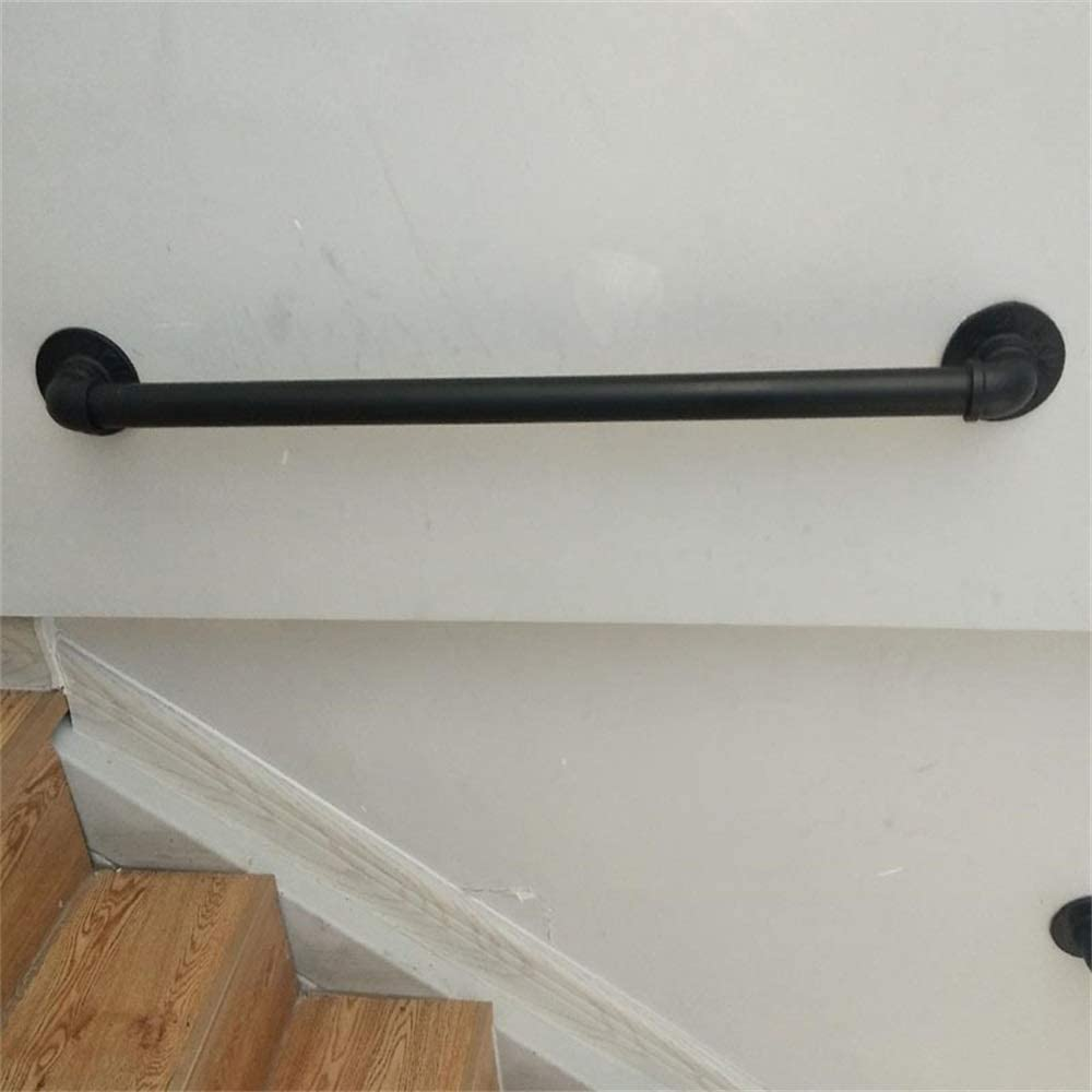 30-600cm Schwarzer Handlauf aus Schmiedeeisen rutschfeste Treppenhandl/äufe geeignet f/ür Bad-WC-Treppen komplettes Zubeh/ör Innen- und Au/ßenhandl/äufe