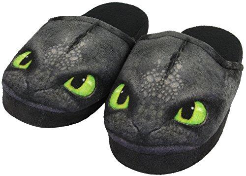 Dreamworks Dragons Enfants Chaussons Krokmou / Toothless, 31-36 noir