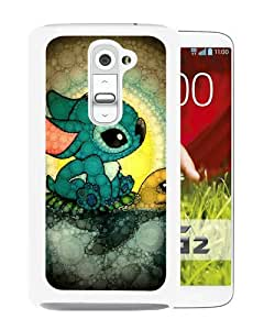 Grace Protactive Disney Lilo And Stitch White Case Cover for LG G2