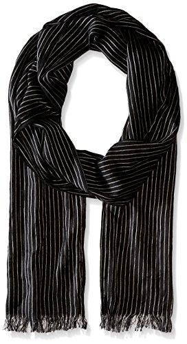 (John Varvatos Star U.S.A Men's Pin Stripe Scarf, Charcoal, One Size)