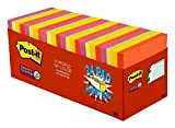 Post-it Super Sticky Notes, 3 in x 3 in, Marrakesh Collection, 24 Pads/Pack, 70 Sheets/Pad, Cabinet Pack (654-24SSAN-CP)
