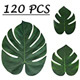 Toys : Moon Boat Tropical Palm Leaves Plant Imitation Leaf-Hawaiian/ Luau/Jungle Party Table Decorations (120PCS)