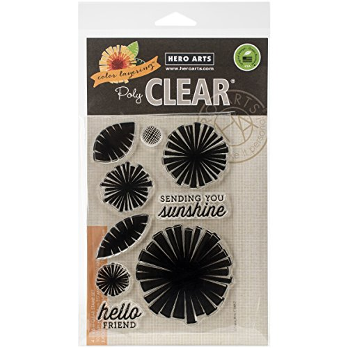Acrylic Set Flower (Hero Arts Color Layering Graphic Flowers Clear Stamp Set)