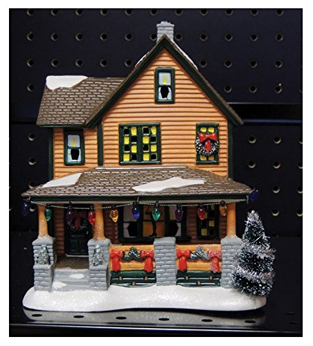 Department 56 A Christmas Story Village Ralphie's House Holiday Gift Set Village Lit House, 8 inch height (Holiday Village)