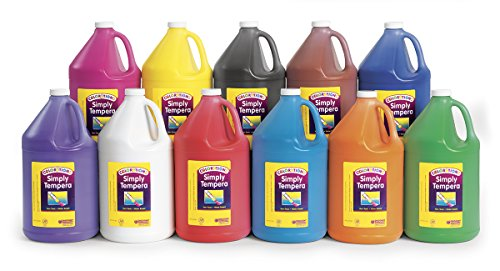 Colorations Simply Tempera Paints, Gallons - Set of all 11 (Item # STGAL) by Colorations