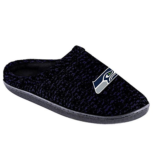 House Seattle Seahawks - FOCO NFL Seattle Seahawks Men's Poly Knit Cup Sole Slipper, Team Color, Small (7-8)