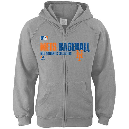 New York Mets MLB Girls Sizes 7-16 Team Favorite Full Zip Fleece Hoodie (Girls Large 14)